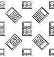 calculator seamless pattern on white background vector image