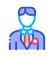 candidate appearance icon outline vector image vector image