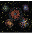 cartoon fireworks for new year celebration or vector image