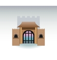 Castle gate cartoon vector image