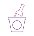 champagne bottle in ice bucket beverage party vector image vector image