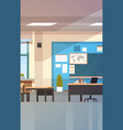 classroom empty school class interior with chalk vector image vector image