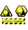 coding in progress vector image