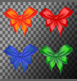 colored bows set vector image vector image