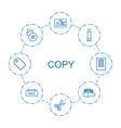copy icons vector image vector image