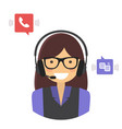customer support service concept vector image