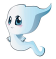 Cute cartoon ghost vector image