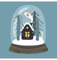 Decorative of handdrawn snow globe vector image vector image