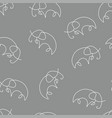 elephant pattern seamless color vector image