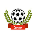 Emblem soccer game icon vector image