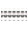 emergency car shape halftone effect vector image vector image