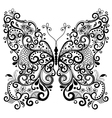 fantasy lacy vintage butterfly vector image vector image
