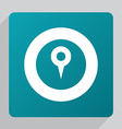 flat map pin icon vector image vector image