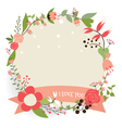 Floral bouquets with ribbon vector image
