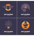 Four cards with Halloween symbols vector image vector image