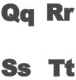 four letters q r s t large and small a simple vector image