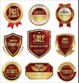 free shipping and luxury golden labels collection vector image vector image