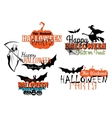 Halloween party designs set vector image vector image