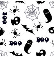 halloween seamless pattern with various halloween vector image