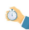 hand with stopwatch vector image