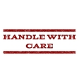 Handle With Care Watermark Stamp vector image vector image