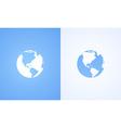 icon world globe vector image vector image