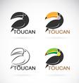 image of an toucan bird design vector image vector image