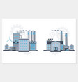 industrial building factory and power plants icon vector image vector image