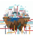 Industrial landscape in flat style vector image vector image