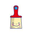 kawaii cute happy brush object vector image vector image