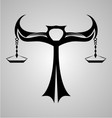 Libra Signs Tribal vector image vector image