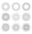 light rays of burst vector image vector image