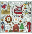 London winter landmarks setColored christmas vector image