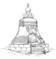 moscow kremlin vector image vector image
