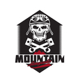 mountain renegades vintage print with skull vector image