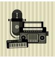Music icon Retro concept Flat