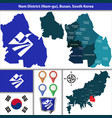 nam district busan city south korea vector image