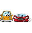 old automobile and sports car cartoon vector image vector image
