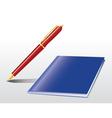 pen notebook vector image vector image