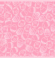pink seamless pattern with eggs vector image vector image