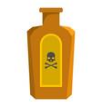 poison bottle icon cartoon style vector image