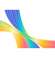 rainbow striped curves on white background vector image vector image