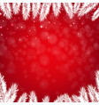red winter poster vector image vector image