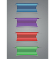 Ribbon set blue purple red green vector image vector image