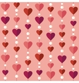 Seamless pattern with flat hearts vector image vector image