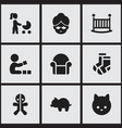 Set of 9 editable kin icons includes symbols such