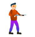 shotgun shooting sport icon cartoon style vector image vector image