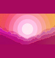 space looking sunset landscape vector image vector image