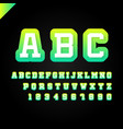 sport font alphabet with latin letters and numbers vector image vector image