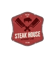 Steak House vintage Label Typography letterpress vector image vector image